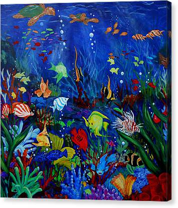 Fish You Dont Feed Canvas Print by Nora Niles
