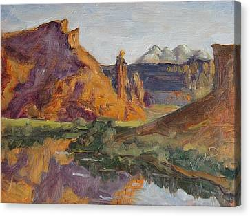 Fisher Tower Castle Valley Moab Utah Canvas Print by Zanobia Shalks