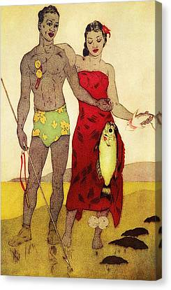 Fisherman Canvas Print by Hawaiian Legacy Archives - Printscapes