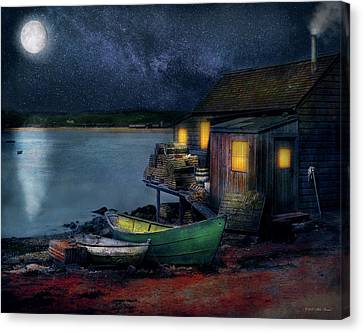 Canvas Print - Fisherman - Lobster - The Fisherman's Cabin 1915 by Mike Savad