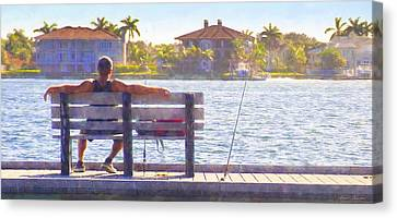 Fisherman Pass A Grille Florida Canvas Print