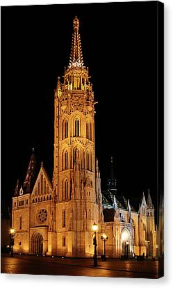 Canvas Print featuring the digital art  Fishermans Bastion - Budapest by Pat Speirs