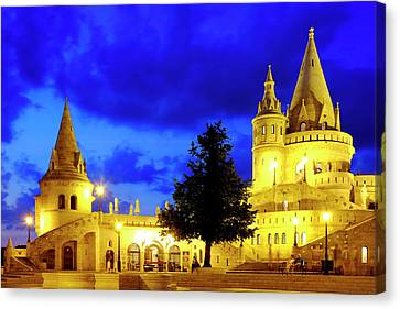 Canvas Print featuring the photograph Fisherman's Bastion by Fabrizio Troiani