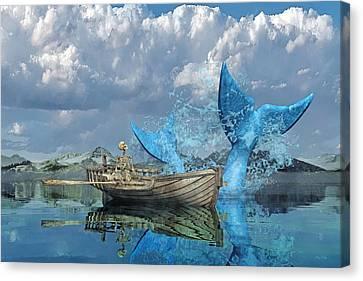 Fish Canvas Print - Fisherman's Tale by Betsy Knapp