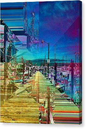 Terminal Canvas Print - Fishermans Terminal Pier 2 by Tim Allen