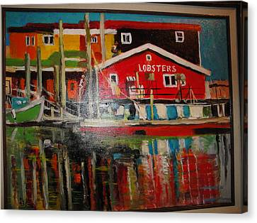 Fishermans Wharf Canvas Print by Les Smith