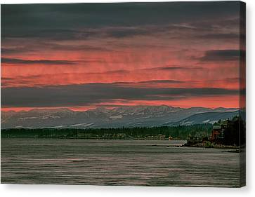 Canvas Print featuring the photograph Fishermans Wharf Sunrise by Randy Hall