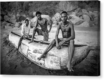 Canoe Canvas Print - Fishermen by Carlos German Romero