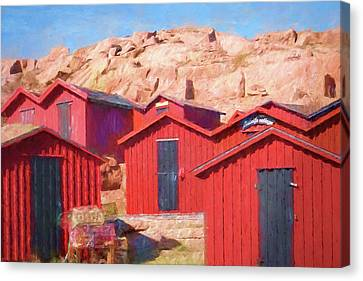 Fishermen Cottages Canvas Print by Lutz Baar