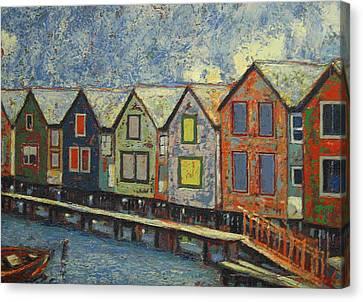 Fishermen Huts Canvas Print