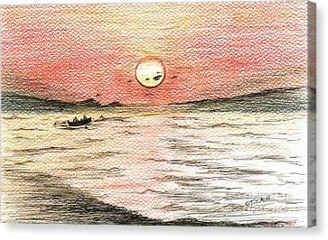 Fishermen's Glory Canvas Print