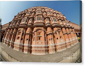 Canvas Print featuring the photograph Fisheye View Of Hawa Mahal by Yew Kwang