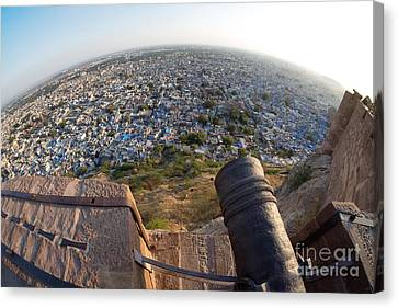 Canvas Print featuring the photograph Fisheye View Of Jodhpur by Yew Kwang