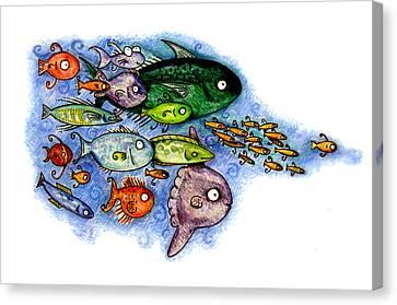 Fishies Canvas Print by Kirsten Carlson