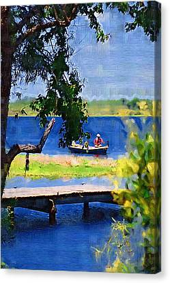 Canvas Print featuring the photograph Fishin by Donna Bentley