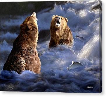 Fishing Alaska Canvas Print
