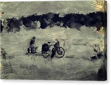 ...fishing / Antique / Canvas Print