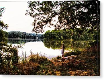 Fishing At Argyle Lake Canvas Print