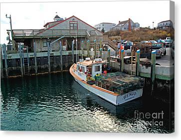 Fishing Boat At Chatham Fish Pier Canvas Print by Matt Suess