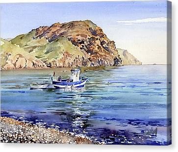 Fishing Boat At Las Negras Canvas Print