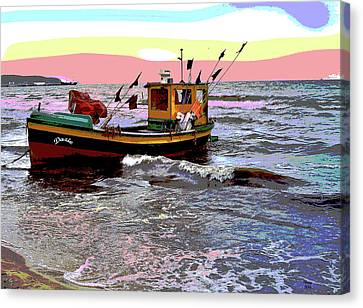 Fishing Boat Canvas Print by Charles Shoup