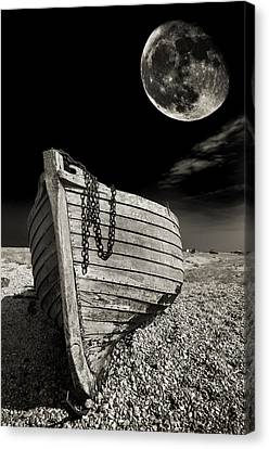 Fishing Boat Graveyard 3 Canvas Print by Meirion Matthias