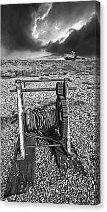Fishing Boat Graveyard 8 Canvas Print by Meirion Matthias