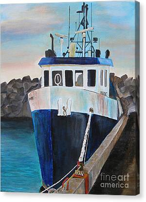 Fishing Boat  Canvas Print by Jo Baby