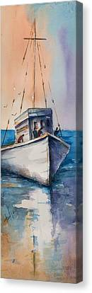 Fishing Boat Canvas Print by Mary DuCharme
