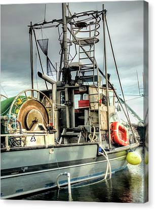 Fishing Boat Rigging Canvas Print by Greg Sigrist