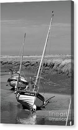 Fishing Boats At Blakeney Canvas Print