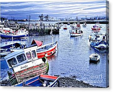 Paddys Hole Canvas Print - Fishing Boats At 'paddy's Hole' by Martyn Arnold