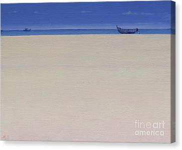 Fine Art India Canvas Print - Fishing Boats At Puvar, Kerala  by Derek Hare