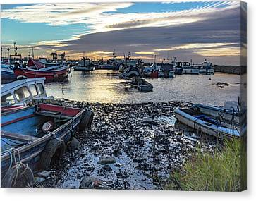 Paddys Hole Canvas Print - Fishing Boats At Rest by Keith Sayer