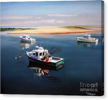 Fishing Boats-cape Cod Canvas Print by Paul Walsh
