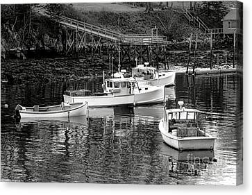 Canvas Print featuring the photograph Fishing Boats In Maine Port by Olivier Le Queinec