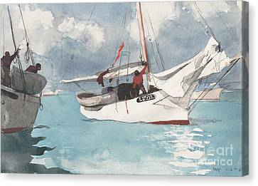 Fishing Boats, Key West, 1903 Canvas Print by Winslow Homer