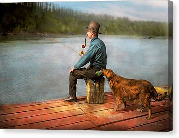 Fishing - Booze Hound 1922 Canvas Print
