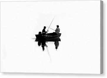 Fishing Buddies Canvas Print by David Lee Thompson
