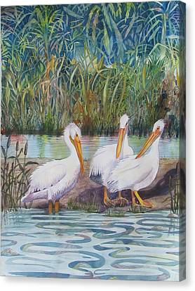 Fishing Buddies Canvas Print by Martha Ayotte