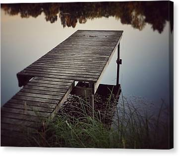Canvas Print featuring the photograph Fishing Dock by Karen Stahlros