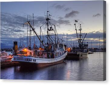 Fishing Fleet Canvas Print by Randy Hall