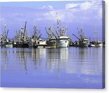 Fishing Fleet Vancouver Island Bc Canvas Print by Barbara St Jean