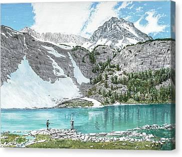 Fishing Gem Lake Canvas Print