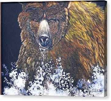 fishing Grizzly SOLD Canvas Print