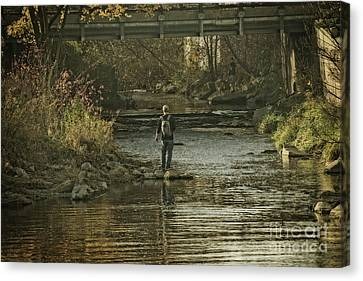 Fishing In November - 1 Canvas Print