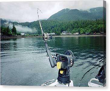 Canvas Print featuring the photograph Fishing   In Se Alaska by Judyann Matthews