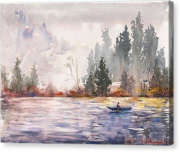 Fishing Canvas Print by Kristina Vardazaryan