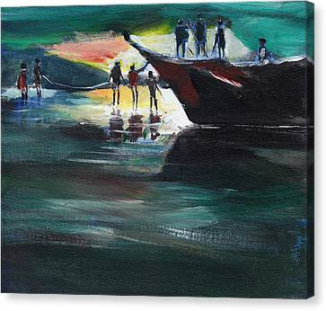 Fishing Line Canvas Print by Anil Nene