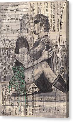 Fishing Love Canvas Print by Jason  Sauve